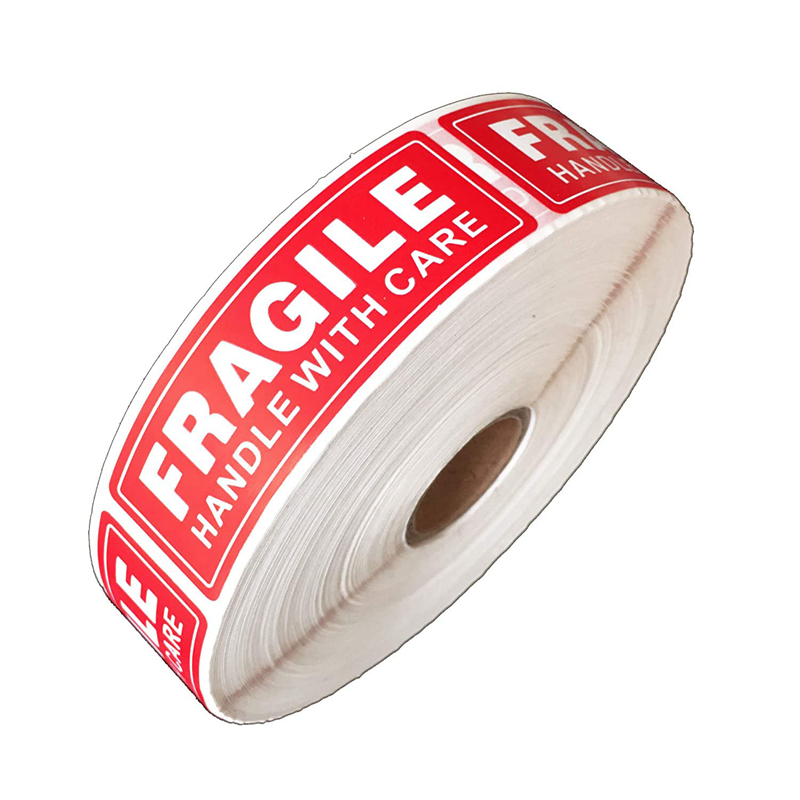 1 Roll/500Pcs Fragile Stickers - Fragile Handle With Care Labels - For Moving, Shipping, Mailing