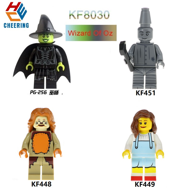 KF8030 Single Sale Wizard Of Oz Movie Figures Cowardly Lion Dorothy Scarecrow Yes Tin Man Building Blocks For Kids Toys Gift