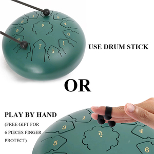 Image 4 - 12 Inch 13 note Steel Tongue drums percussion musical Instruments hand pan Tank Drum With A Carry Bag Drumsticks Handpan