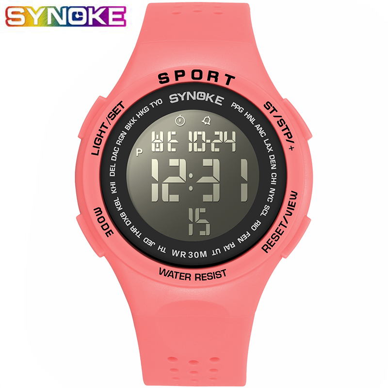 SYNOKE Sports Digital Watch For Boys Girls Student  LED Kids Wristwatch 30M Waterproof Alarm Kids Watch Gift Luminous Clock