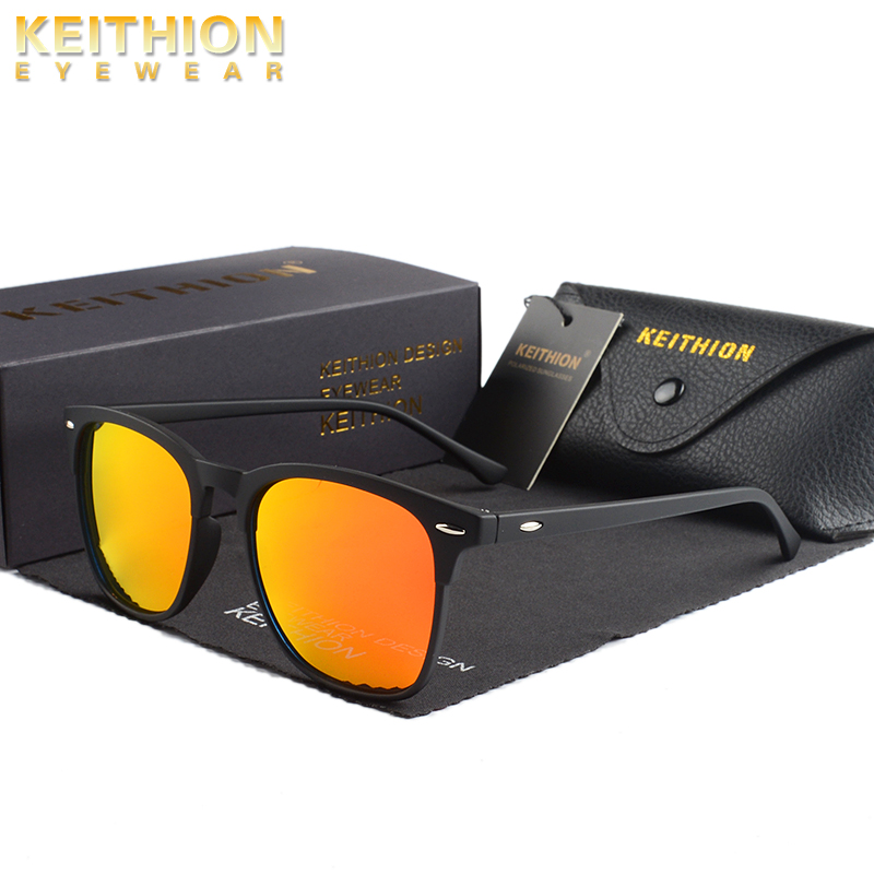 KEITHION New Square Polaried Sunglasses Men Women Vintage