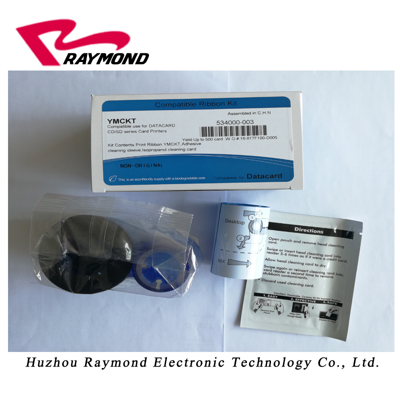 compatible datacard printetr ribbon 534000 003 YMCKT color ribbon kit for SD260 and SP55 series card printer|card printer ribbon|datacard sd260 ribbon|datacard printer ribbon - title=