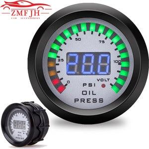 "Image 1 - Car 2"" 52mm Oil pressure gauge With Sensor Smoke Lens Oil Press Gauge + voltmeter auto Car meter 12v digital motorcycle"