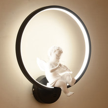 Wall Lamps Indoor Black White Wall Lighting Minimalist Art Sconce Interior With Angel Bird Home Decoration wall