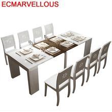 Da Pranzo Marmol Room Tisch Sala Kitchen Piknik Masa Sandalye Meja Makan Juego Comedor Desk Mesa De Jantar Bureau Dining Table