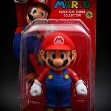 Genuine 12cm Super Mario PVC Action Figure Doll Toys Supermario Game Plastic Model Statue Cake Figure Decoration Kids Gift Toys