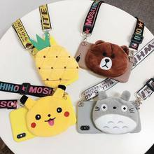 Cartoon plush coin purse phone case for oppo R17 R15 Dreamland R15X/K1 R9SP R11SP Reno K3/realmex A7X/F9 A9/F11 A5/A3S A83/A1(China)