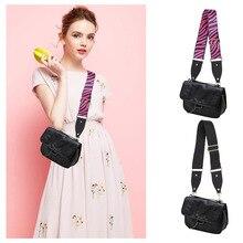 AL Wide Strap Fashion Bag Women Straps for Bags Women Crossbody Straps Zebra Woven Strap