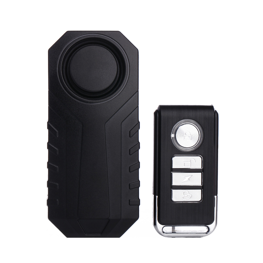 Wireless Bike Alarm Warning Electric Horn Three Dimensional Displacement Alarm 7 Adjustable Sensitivity for Scooters Waterproof