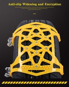 Image 5 - 6PcsรถยางSnow Chains UniversalหนาAnti Skid ChainsความปลอดภัยDouble Snapลื่นไถลล้อยางโซ่spikes