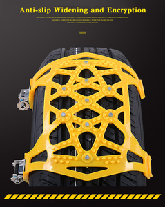 Image 5 - 6pcs 자동차 타이어 스노우 체인 유니버설 짙어지면서 조정 가능한 안티 스키드 체인 안전 더블 스냅 스키드 휠 타이어 체인 스파이크