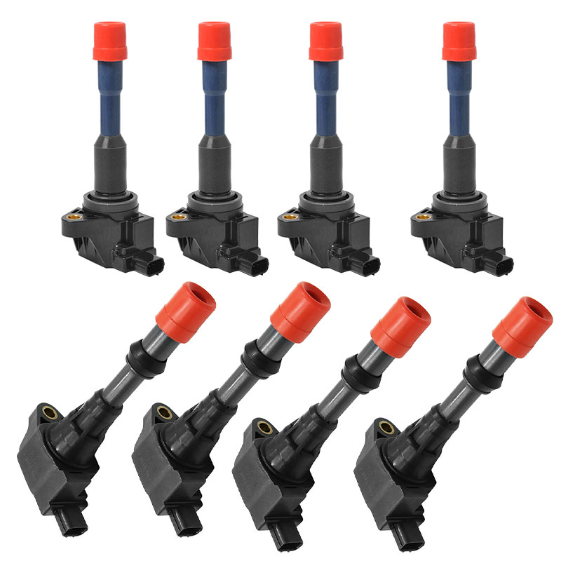 DERI 8PCS front rear Ignition Coil Fit for JAZZ 2003-2008 1.3L 1.5L <font><b>30521PWA003</b></font> 30520PWA003 bobine allumage Car coils DC 12V image