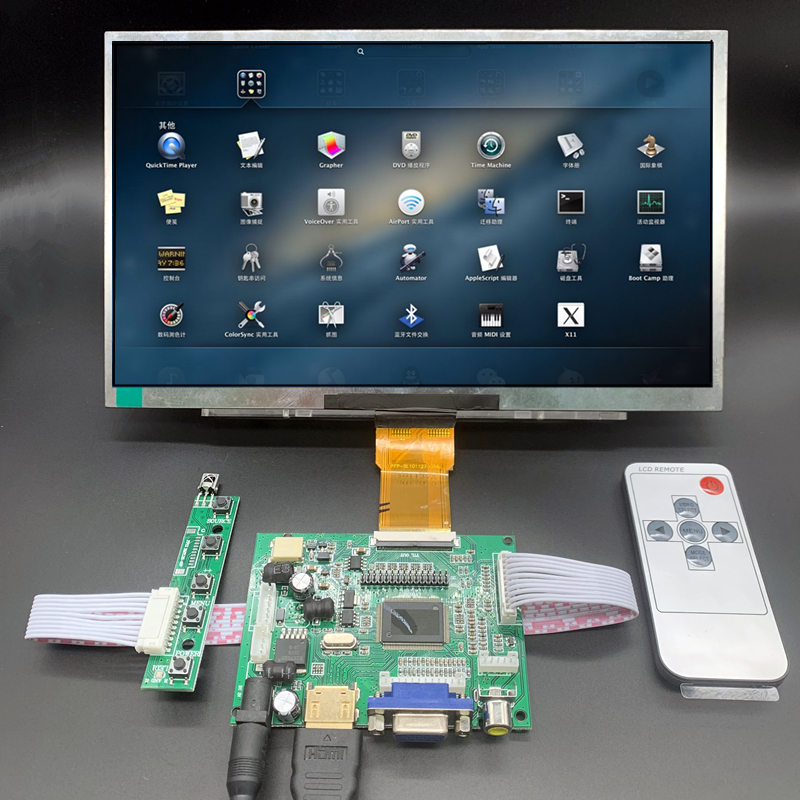 10.1 inch 1024*600 HDMI Screen LCD <font><b>Display</b></font> with Audio Driver Board Monitor for <font><b>Raspberry</b></font> <font><b>Pi</b></font> Banana/Orange <font><b>Pi</b></font> Mini computer image