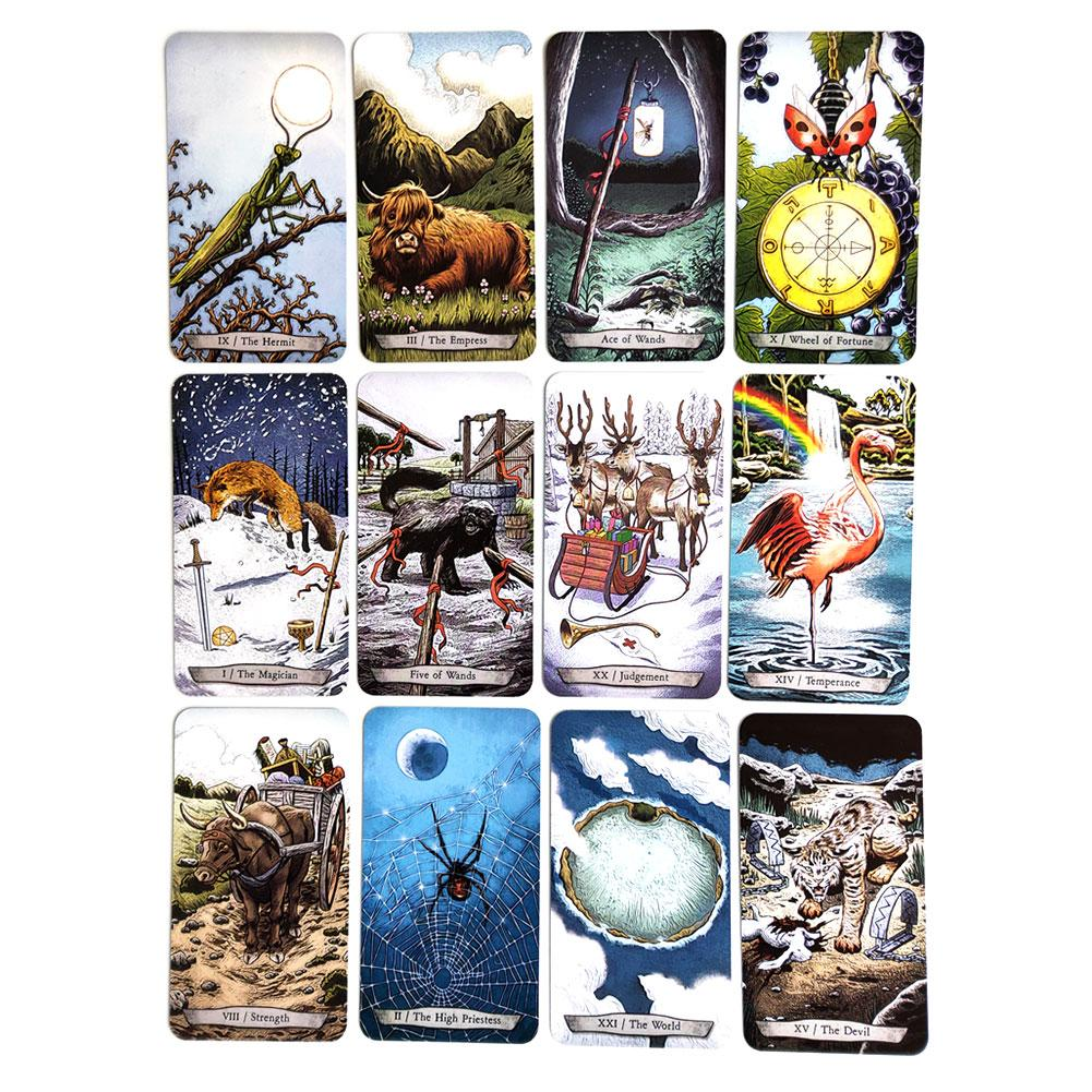78 PCS / Set English New Animal Totem Tarot Cards Deck Card Games Board Table Game For Family Party Playing Cards Entertainment