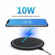 Cargador rápido inalámbrico con pantalla LED para iPhone 11 Pro MAX, Huawei, Xiaomi, Cargador rápido Universal USB, QC 3,0, 10W
