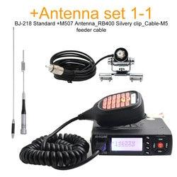Baojie bj-BJ-218 Mini Mobile Radio 20km 25w Dual Band VHF / UHF Walkie Talkie 136-174mhz 400-470mhz bj218 Transceiver Stazione