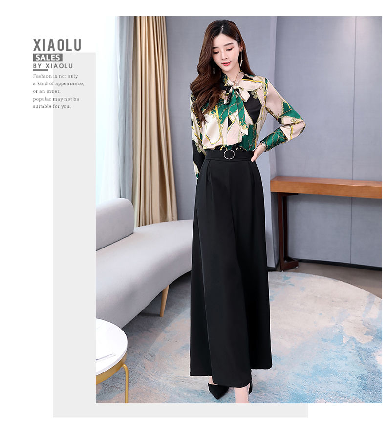 H93dad3c2e8384b04ac458e3e5ecfa4efc - Summer Two Piece Set OL Women Sets Plus Size Two Piece Set Top And Pants Wide Leg Pants Woman Tracksuit /outfit/suit/Set 2 Piece
