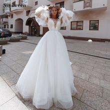 Smileven кружевные свадебные платья а силуэта 2020 сверкающие