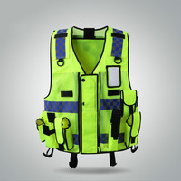 Reflective Vest Multi bag Construction Site Building Safety Protection Vest Traffic Fluorescent Clothing Jacket