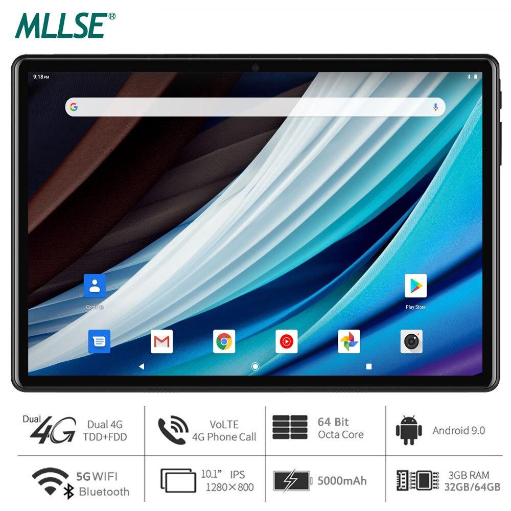Mllse tablet, processador octa core, 3gb ram, 64gb de armazenamento, android 9.0 torta, 10 polegada tablet, 1280x800 ips, 5g wi-fi, usb tipo c