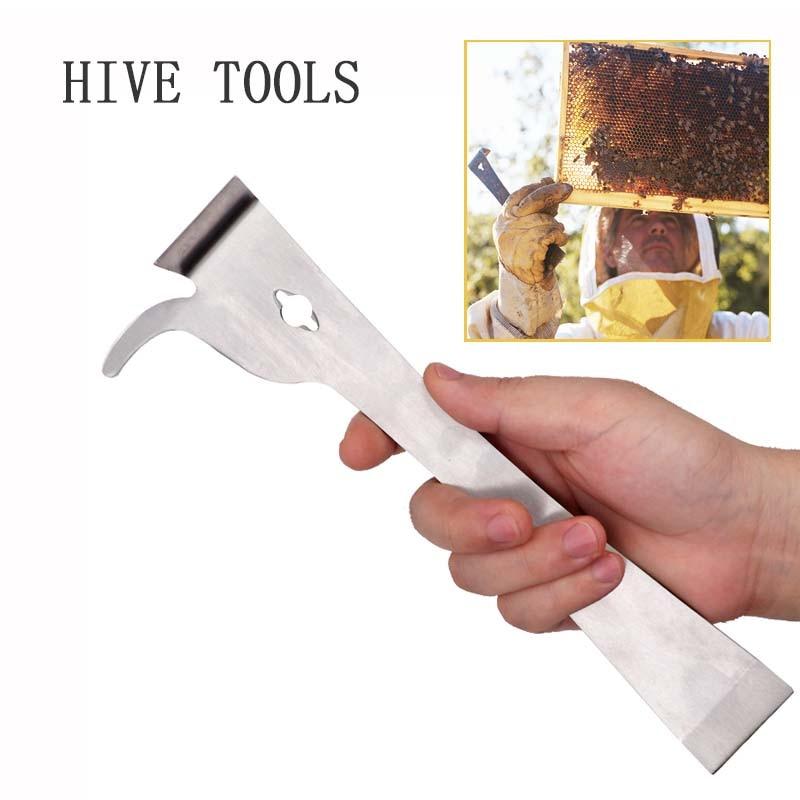 Bee Tools Stainless Steel Thumb Type Multifunction Bee Honey Knife Bee Hive Scraper Beekeeping Bee Scraper Cut
