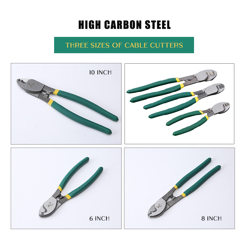 """6/"""" 8/"""" 10/"""" high carbon steel Electrical Cable Cutters Wire Cutting Plier Tools"""