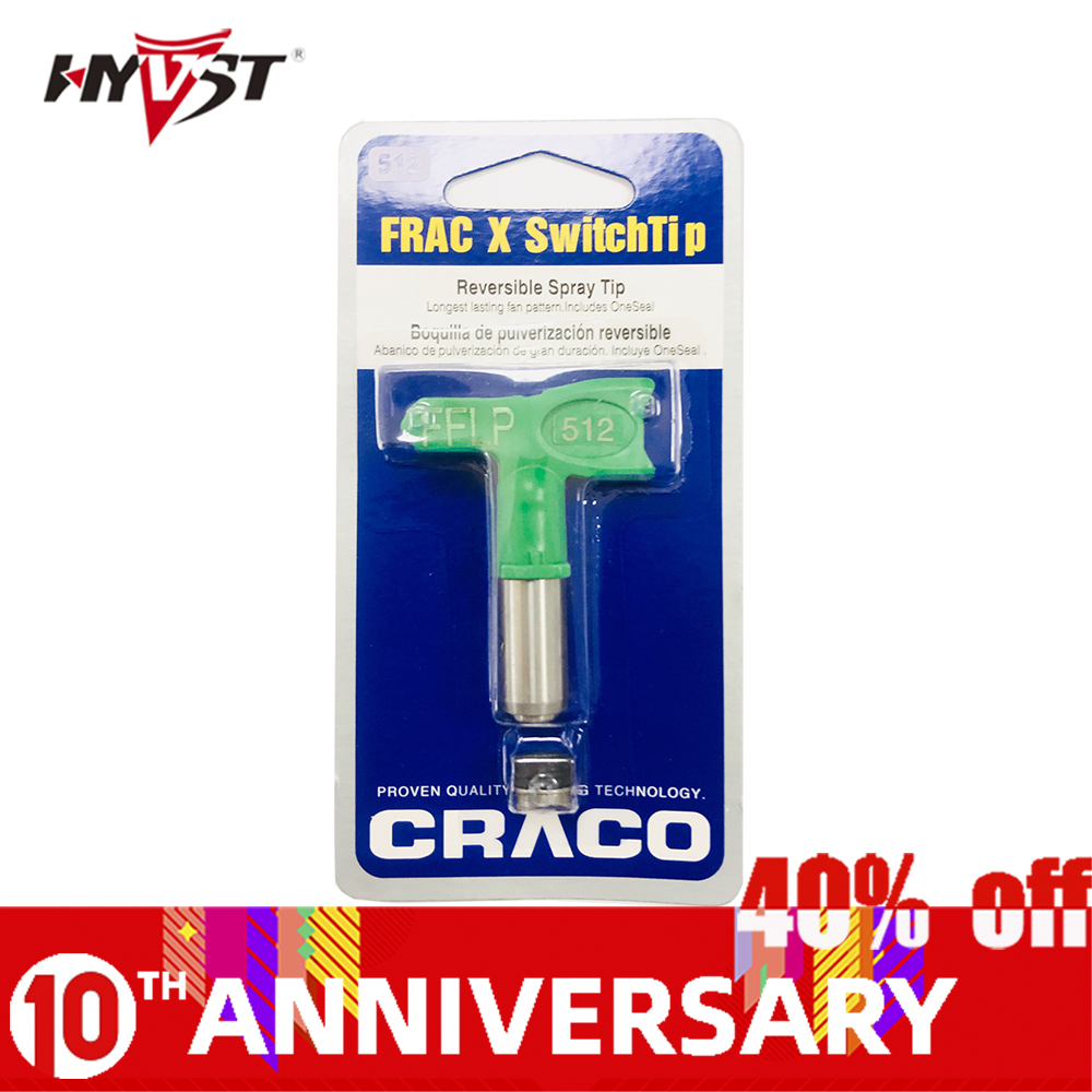 Hyvst Airless Tips FRAC110/214/314/414/518/108/210/310/212/312 Tip Nozzle Low Pressure Tip For Airless Paint Spray Guns