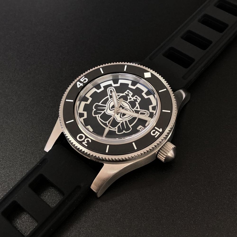 mergulho caso moldura cerâmica relógio de mergulho automático sd1952p