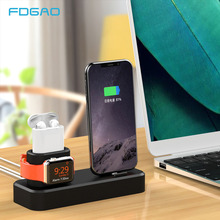 FDGAO 3 in 1 Charge Docking Station Charging Stand Phone Holder For iPhone 12 11 XR XS X 8 7 6s 6 Plus for Apple Watch Airpods