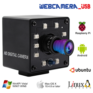 Image 1 - אינפרא אדום USB Webcam 1080P מלא HD MJPEG 30fps ראיית לילה IR לחתוך מיני USB מצלמה עם נוריות עבור אנדרואיד, לינוקס, Windows, מחשב