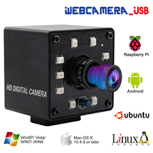 Webcam USB infrarouge 1080P Full HD, MJPEG 30fps, Vision nocturne, avec led, pour Android, Linux, Windows, PC