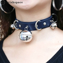The new popular personality leather alloy bell collar women jewelry wholesale fashion necklace