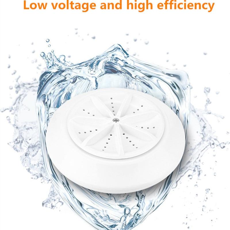 USB Portable Washing Machine Ultrasonic Turbo Washer Mini Travel Portable Clothes Dish Fruit And Vegetable Washing Machine