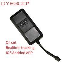 DYEGOO 4 band gps tracker TK110 google link engine cutoff high speed platform gps tracking device free shipping