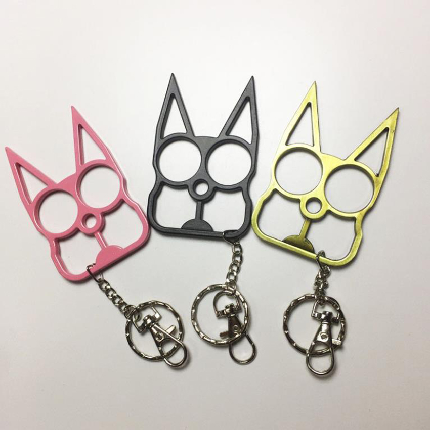 Creative Portable Outdoor Self-defense Multifunctional Screwdriver Keychain, Cute Cat Head Shape Bottle Window Opener Gadgets