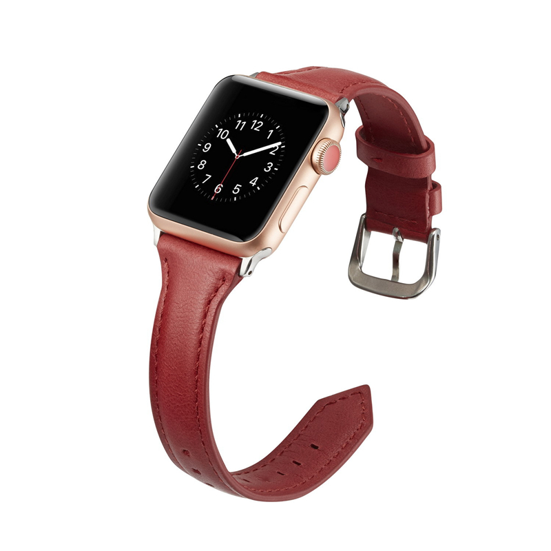 Strap For Apple Watch Band 44mm 40mm Iwatch 5 4 3 Band 42mm 38mm Narrow Thin Slim Leather Correa Belt Bracelet Band
