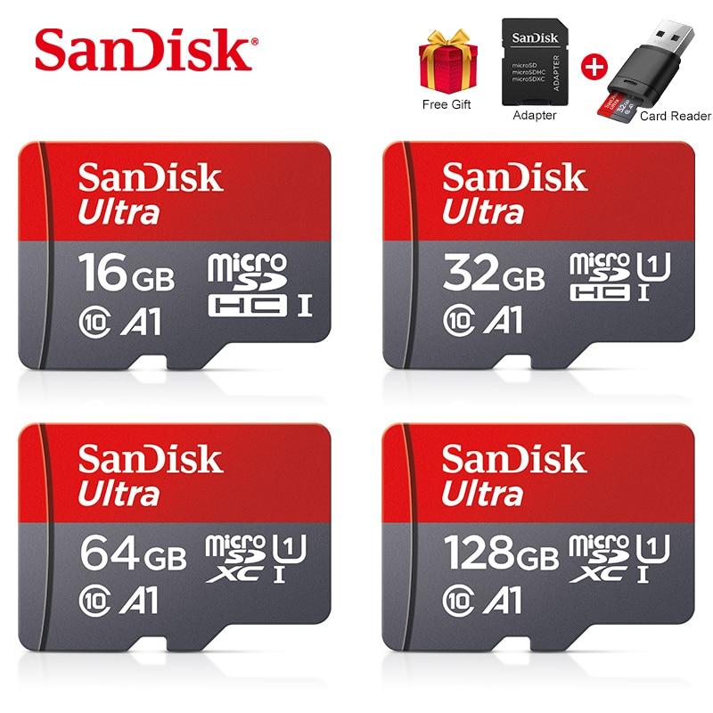 Sandisk Ultra Micro SD 128 GB 32GB 64GB 256GB 16GB Micro SD Karte SD/TF-Karte Speicher Karte 32 64 128 gb microSD für Telefon