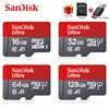 Sandisk Ultra mikro SD 128 GB 32GB 64GB 256GB 16GB karta Micro SD SD/TF karta pamięci Flash 32 64 128 gb microSD na telefon