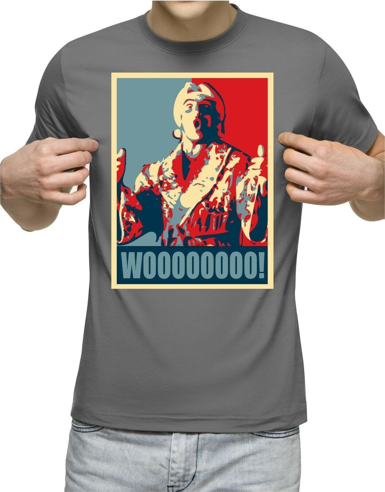 Wooo T-Shirt Ric Flair Funny T Shirt Retro Wrestling Nature Boy Classic Wwf 2(China)