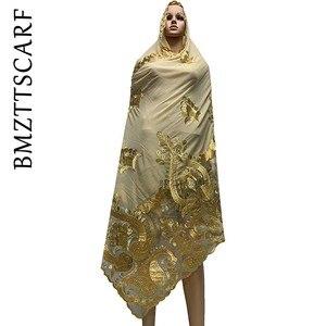 Image 3 - באיכות גבוהה אפריקאי נשים צעיפים רך שיפון צעיף אחוי עם נטו כבד שיפון צעיפים עבור להתפלל צעיפים BM772