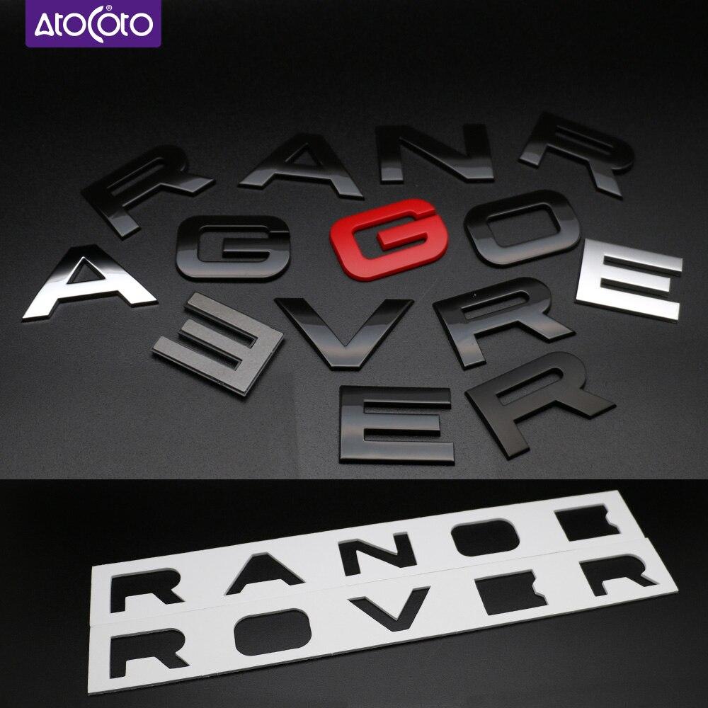 3D Aluminum Logo Oval Hood Tailgate Trunk Emblem Badge Nameplate For Land Rover