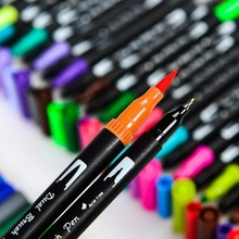 купить Durable Double head Colorful Art Markers 12/18/24/36/48/60 Pack Colorful Art Marker Dual Tips Coloring Pens Water Marker по цене 273.55 рублей