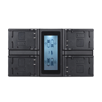 Andoer NP F970 4 Channel Digital Camera Battery Charger w/ LCD Display for Sony NP F550 F750 F950 NP FM50 FM500H QM71