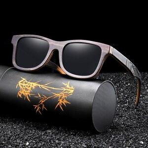 Image 4 - EZREALหรูหราแว่นกันแดดVintageสีดำกรอบแว่นตากันแดดไม้แว่นตากันแดดPolarizedผู้ชายแว่นตากันแดดไม้ไผ่