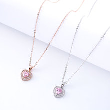 Personality Design Heart Pendant Charm Necklace Gift National Bohemian Exquisite Clavicle Chain Engagement Jewelry