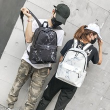 2020 Jane Marble Pattern Backpack Large-capacity About School Bag Wild Harajuku Bag Korean Version Ulzzang Student Backpack