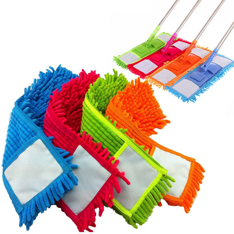 Mop For Wash Floor Household Dust Cleaning Tools Cloth Replacement Reusable Microfiber Pad Floor Mop Accessories Flat