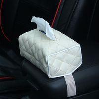Car Leather hanging Tissue paper Box Napkin Holder For Car Automotive Decoration Car accessories|Tissue Boxes| |  -