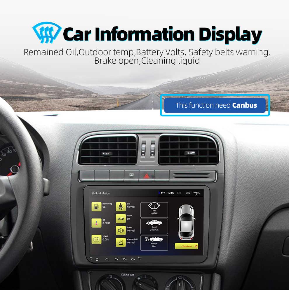 9 inch Android 8.1 Đôi 2Din Xe đài phát thanh GPS đài phát thanh Tự Động 2 Din USB Cho Volkswagen/Passat/GOLF /Skoda/Seat Wifi bluetooth 2din
