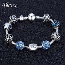BICUX, модный,, винтажный, этнический, сплав, кристалл, стекло, бисерный браслет для женщин, мужчин, сердце, растение, круглые браслеты, ювелирное изделие